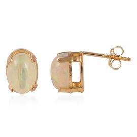 JCK Vegas Collection 14K Y Gold AAA Ethiopian Welo Opal (Ovl) Earrings (with Push Back) 1.500 Ct.