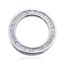 9K W Gold SGL Certified Diamond (Bgt) (I3/ G-H) Circle Pendant 0.500 Ct.
