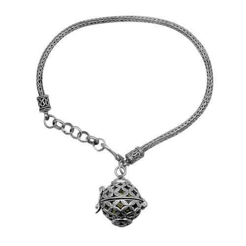 Royal Bali Collection Harmony Ball Charm Bracelet (Size 7.5 with Extender) in Yellow Gold Overlay and Sterling Silver, Silver wt 12.46 Gms.