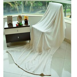 Superfine Microfibre Light Grey Colour Blanket (Size 200x150 Cm)