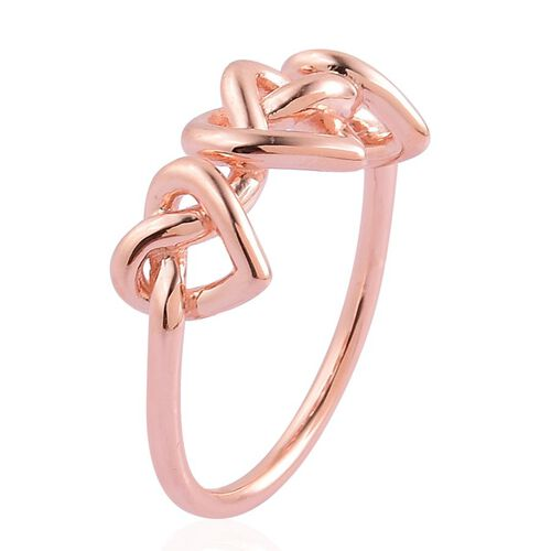 LucyQ Triple Entwine Ring in Rose Gold Overlay Sterling Silver