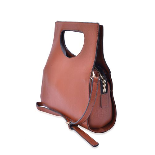 Chocolate Colour Tote Bag with Adjustable Shoulder Strap (Size 30x18x10 Cm)