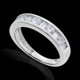 RHAPSODY 950 Platinum SGL Certified Diamond (Rnd) (VS/E-F) Half Eternity Band Ring 1.000 Ct.