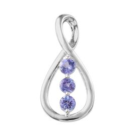 Tanzanite (Rnd) Trilogy Pendant in Sterling Silver 1.000 Ct.