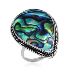 Royal Bali Collection Abalone Shell (Pear) Ring in Sterling Silver 7.530 Ct.