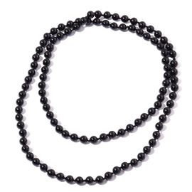 Rare AAA Round Bead Australian Black Tourmaline Necklace (Size 30) 203.700 Ct.