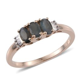 9K Y Gold Narsipatnam Alexandrite (Ovl), Diamond Ring 0.650 Ct.