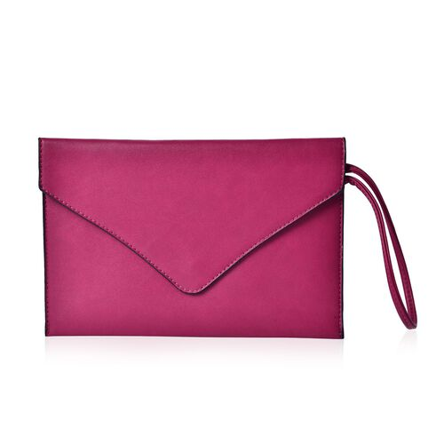 New Season YUAN COLLECTION Hot Fuchsia Envelope Clutch / Travel Pouch(Size 25.5x17 Cm)