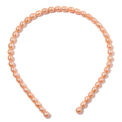 Fresh Water Peach Pearl Head Band