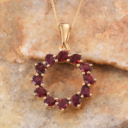 Mahenge Spinel (Pear) Pendant With Chain in 14K Gold Overlay Sterling Silver 2.250 Ct.