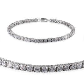 9K W Gold (Rnd) Bracelet Made with 120 FACETS HERITAGE CUT SWAROVSKI ZIRCONIA (Size 7) 5.500 Ct.