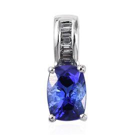RHAPSODY 950 Platinum 1 Carat AAAA Tanzanite Pendant With Diamond VS E-F