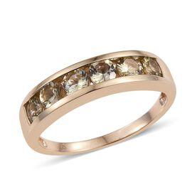9K Y Gold Natural Yellow Tanzanite (Rnd) Band Ring 1.500 Ct.