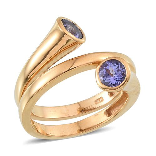Tanzanite (Rnd) Ring in 14K Gold Overlay Sterling Silver 1.000 Ct.