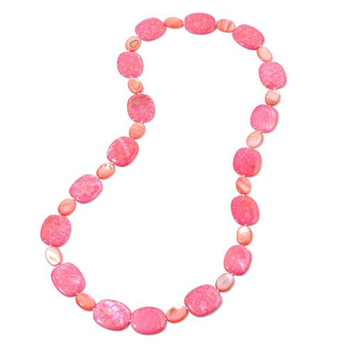 Dyed Shell Necklace (Size 32) 614.100 Ct.