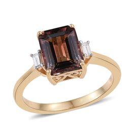 ILIANA 18K Y Gold Bi-Color Tourmaline (Oct 2.80 Ct), Diamond Ring 2.900 Ct.