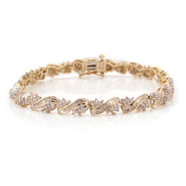 Tuscon Collection 9K Y Gold Diamond Bracelet (Size 7.25) 3.00 Ct. Gold Wt 10.90 Gms.