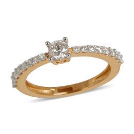 14K Y Gold IGI Certified Diamond (Rnd 0.25 Ct) (I2/ G-H) Ring 0.500 Ct.