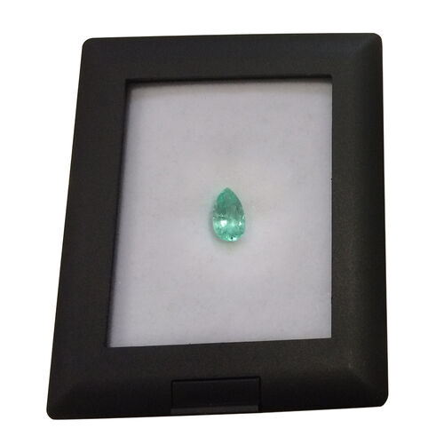 Boyaca Colombian Emerald (Pear 9x5.6 Faceted 3A) 1.350 Ct.