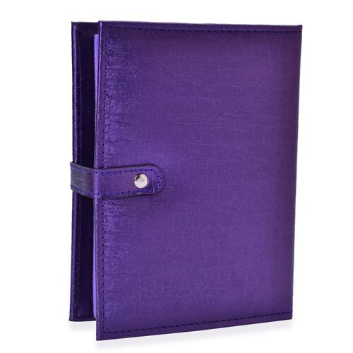 TJC Book of Earrings in Purple Colour (Size 19X14.7X5 Cm)
