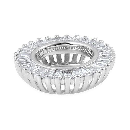 ILIANA 18K W Gold IGI Certified Diamond (Bgt) (SI/G-H) Circle of Life Pendant 0.500 Ct.