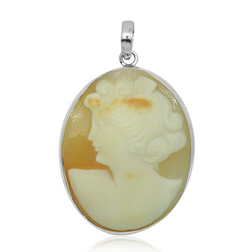(Option 1) Royal Bali Collection Cameo Pendant in Sterling Silver 18.300 Ct.