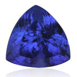 IGI Certified Bluish Violet Vivid Tanzanite (Trl 12.3 mm Faceted 4A) 8.010 Ct. (GT12114015)