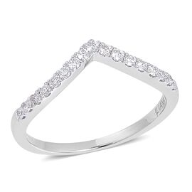 ILIANA 18K White Gold 0.50 Carat IGI Certified Diamond SI G-H Wishbone Ring