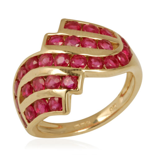 9K Y Gold Burmese Ruby (Rnd) Ring 2.000 Ct.