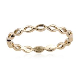 Kimberley 9K Y Gold Infinity Band Ring