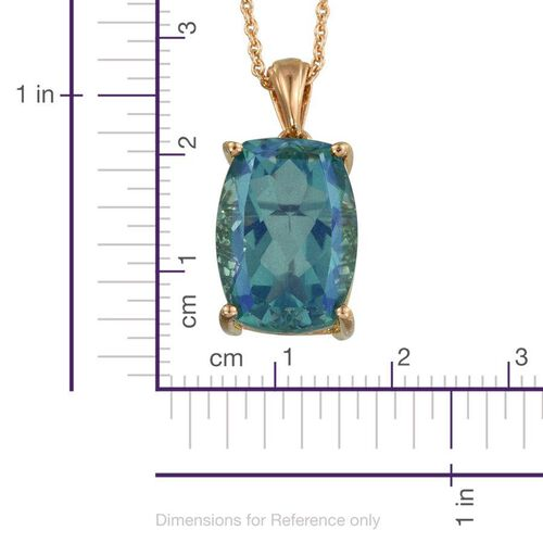 Peacock Quartz (Cush) Pendant With Chain in 14K Gold Overlay Sterling Silver 14.000 Ct.
