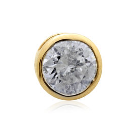14K Y Gold SGL Certified Diamond (Rnd) (I 2/G-H) Solitaire Pendant 0.500 Ct.