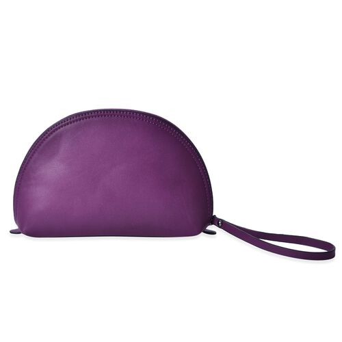 Purple Colour Cosmetic Bag (Size 23x15.5x7 Cm)
