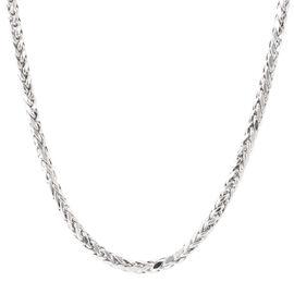 Royal Bali Collection 9K White Gold Diamond Cut Tulang Naga Necklace (Size 20), Gold wt 10.70 Gms.
