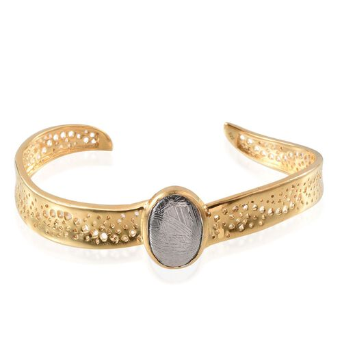 Meteorite (Ovl) Bangle (Size 7.5) in 14K Gold Overlay Sterling Silver 14.000 Ct.