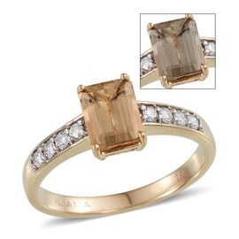 ILIANA 18K Y Gold Turkizite (Oct 1.75 Ct), Diamond Ring 2.000 Ct.