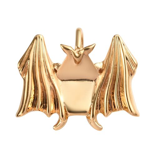 Origami Bat Silver Pendant in Gold Overlay, Silver wt 3.29 Gms.