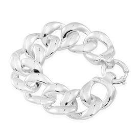 Designer Inspired Silver Curb Bracelet (Size 8), Silver wt 31.20 Gms.