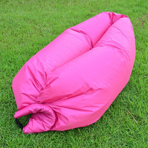 Fuchsia Colour Self Inflating Air Lounger with Carry Pouch
