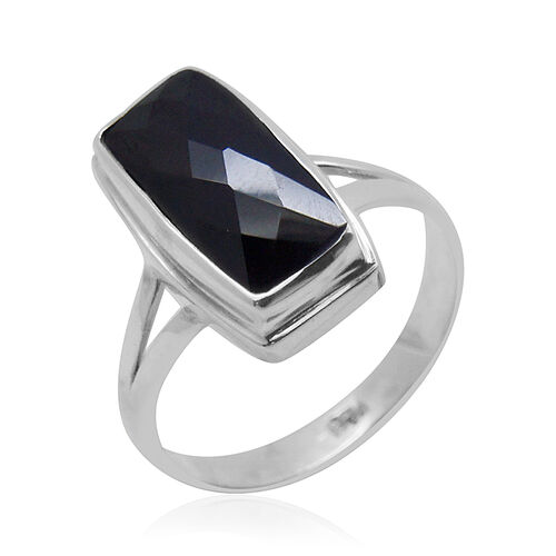 Royal Bali Collection Boi Ploi Black Spinel Ring in Sterling Silver 7.460 Ct.