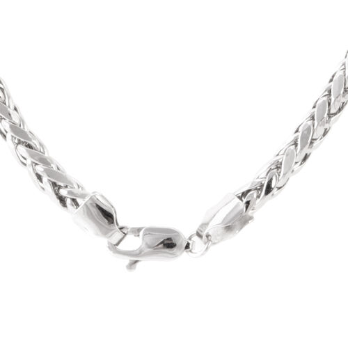Royal Bali Collection 9K White Gold Diamond Cut Tulang Naga Necklace (Size 20), Gold wt 11.01 Gms.