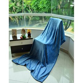 Superfine Microfibre Blue Colour Blanket (Size 200x150 Cm)