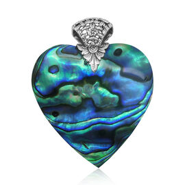 Royal Bali Collection Abalone Shell (Hrt) Pendant in Sterling Silver 31.860 Ct.