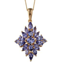 Tanzanite (Ovl 0.50 Ct) Pendant With Chain in 14K Gold Overlay Sterling Silver 3.650 Ct.