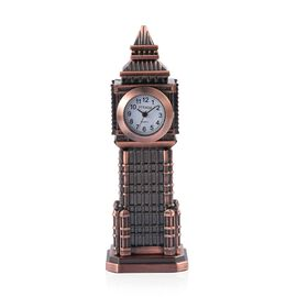 (Option 1) Home Decor - STRADA Japanese Movement White Dial Big Ben Design Clock in Rose Gold Tone