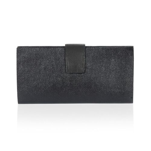 Black Genuine Leather Women Wallet