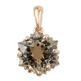 ILIANA 18K Y Gold AAA Natural Turkizite Solitaire Snowflake Pendant 5.250 Ct.