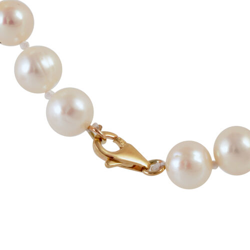 9K W Gold Fresh Water White Pearl Necklace (Size 18 with 1 inch Extender)