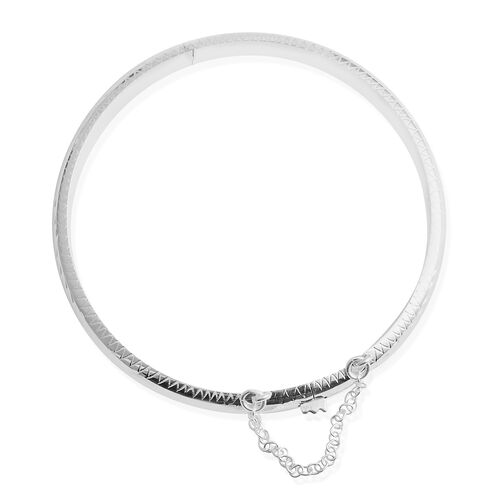 Limited Edition- Designer Inspired Sterling Silver Diamond Cut Bangle Silver wt 8.00 Gms.