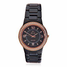 Monchic Cambodian Zircon (0.00 Ct) 100CER N Ceramic Watch  0.001  Ct.